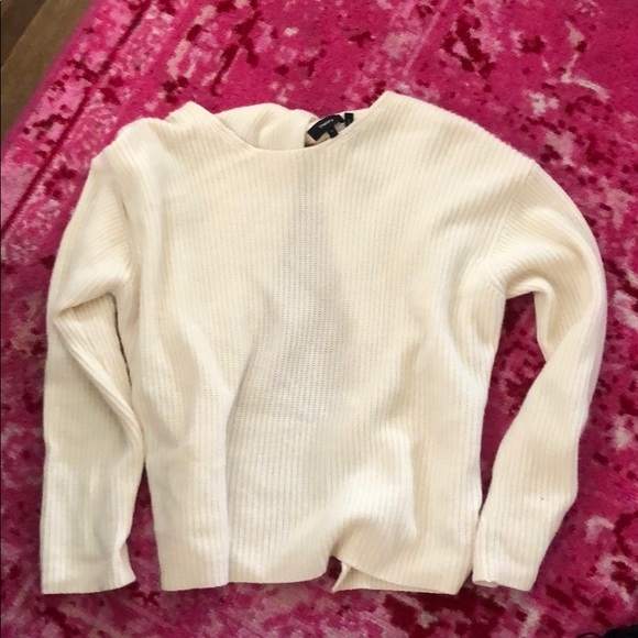 Theory Sweaters - Cream theory sweater with open back